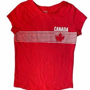 ✨3 for $30✨NEW Girls XL Canada Day Red Tee Shirt